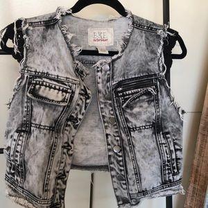Jean & black (lace sleeving) jacket